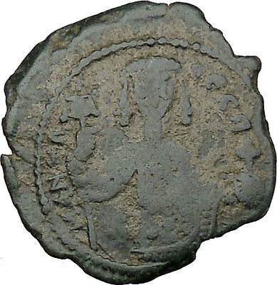 Manuel I Comnenus Ancient  Byzantine Coin Cross with X at center Labarum  i38027