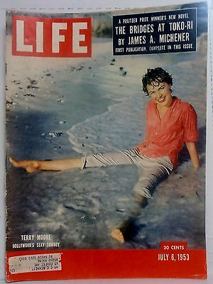 Life Magazine, July 6 1953, Terry Moore Hollywood's Sexy Tomboy, Vol. 35 No. 1