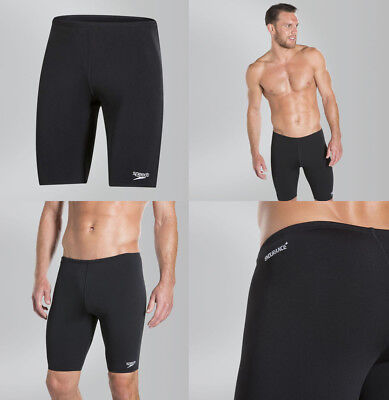 Speedo Mens End+ Jammer Swimming Shorts - Chlorine Resistant Black (026988)