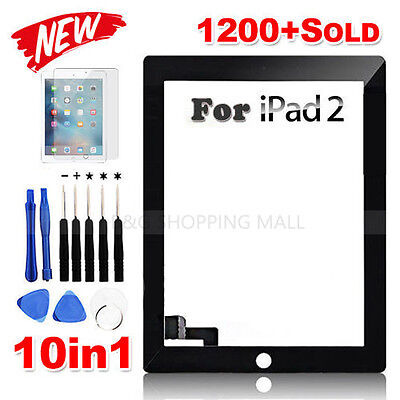 Premium Digitizer Replacement Front Glass Touch Screen Lens for iPad 2 Black