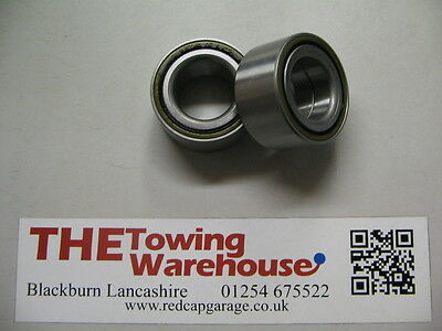 2 x 76mm P00002 Wheel bearing for 1996 on Ifor williams trailers (Grey Hub cap)