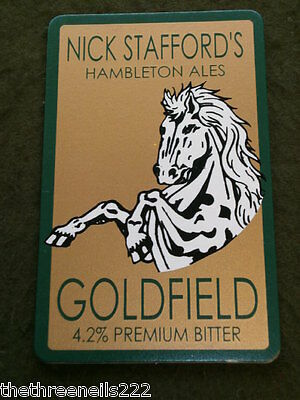 Beer Pump Clip - Nick Stafford's Goldfield