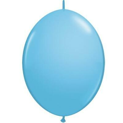 "Pale Blue 12"" Qualatex Quick Link Latex Balloons x 10"