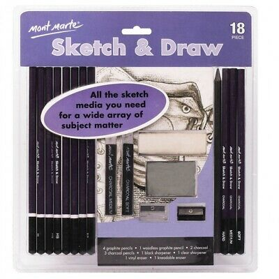 Mont Marte Sketch and Draw Set 18pce