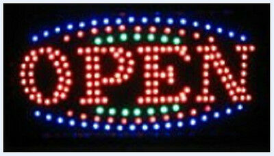 LED Open  Business Neon Light Sign Ultra Bright Flashing Shop Supply