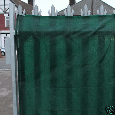 98% Green Shade Netting for Privacy Windbreak Screening 1.5m High per METRE long