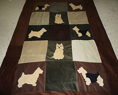 Handmade NORWICH Terrier Quilt various sizes Made-To-Order Corduroy Fabric NEW