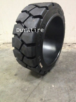 16x5x10.5, 16x5x10 1/2, Traction Solid Press On Forklift Tire, (2 Tires)