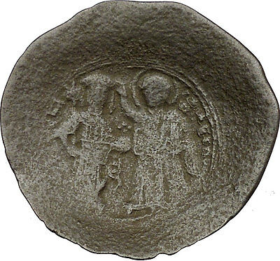 Manuel I , Comnenus  with Virgin 1143AD Ancient Byzantine Coin Christ i38299