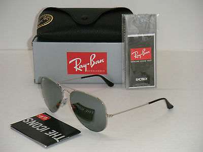 Ray Ban Aviator 3025 RB 3025 003/40 62mm Silver Frame / Full Silver Mirror Large
