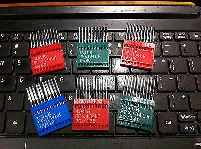 10x Leather Point Industrial Sewing Machine Needles 134LR,PFX134LR, Choose Size