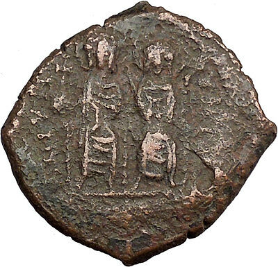 Justin II & Queen Sophia 565AD  Ancient Medieval Byzantine Coin Large K  i38330