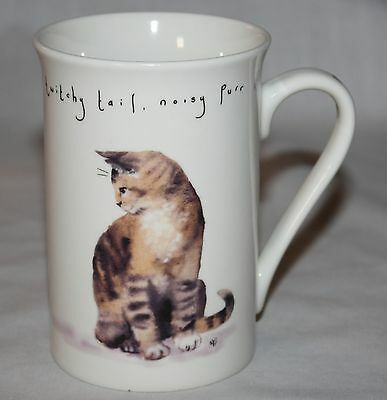 Cat Mug Kent Pottery Butterfly Noisy Purr Meow Fur Twitchy Tail