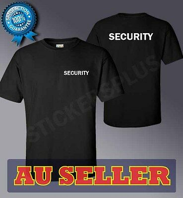 BLACK 100% Cotton quality T-shirt - SECURITY, bodyguard for any event pub etc