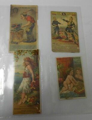 VINTAGE Victorian Trade / Ad Cards SOAP Pickles LIFE INSURANCE Lot of 4 VG
