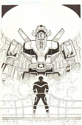 Voltron #9 Cover - 2013 Signed art by Sean Chen