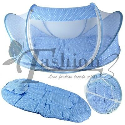 Baby Infant Bed Canopy Mosquito Net Cotton-padded Mattress Pillow Tent Foldable