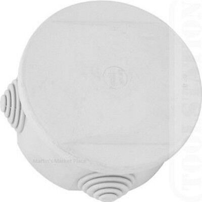 Weatherproof, Joint, Junction, Box, IP44, Round Enclosure, 1 postage charge.
