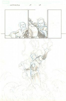 Ultimates, The #3 p.19 - Thor In New Suit Splash - 2011 art by Esad Ribic
