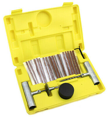 35 Pc Tire Repair Tool Kit Case Plug Patching Tubeless Tires Insert Spiral Hex