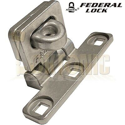 Federal Fd701 Heavy Duty T-Shape Stainless Steel Van Shed Garage Hasp And Staple