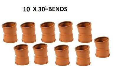 10 x 110mm Underground Drainage 30deg Double Socket Bend