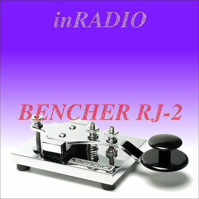 Bencher Rj-2 - Hand Morse Code Cw Key Chrome Base And Components Free Shipping!