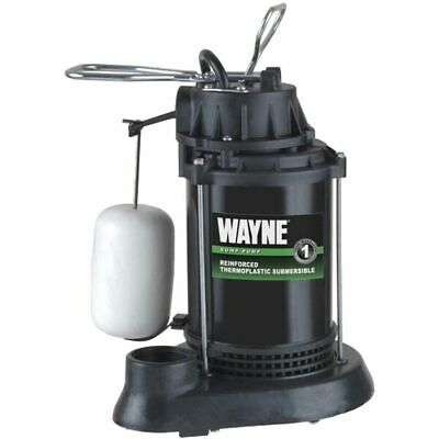 Wayne SPF33 - 1/3 HP Thermoplastic Submersible Sump Pump w/ Vertical Float Sw...