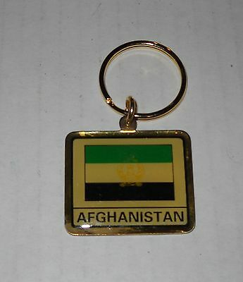 Wholesale Lot Of 10 Afghanistan Flag (Older Flag) Metal Keychain, BRAND NEW