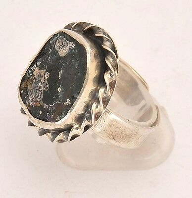 Roman Glass Hand Made Ring In Sterling Silver 925 #2