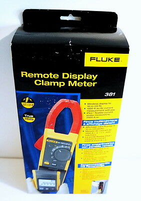 Fluke 381 True Rms Ac/dc Remote Display Clamp Meter Multimeter W Iflex New