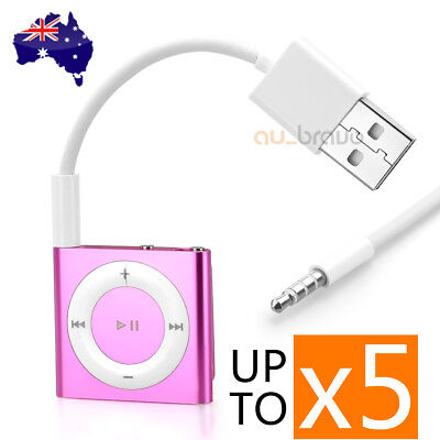 USB Charger Sync Data Cable 3.5mm for iPod Shuffle 3 3rd 4 4th 5 5th Gen New