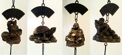 Lucky Chinese Feng Shui Chimes: Elephant; Buddha; Dragon Turtle ; Money Frog