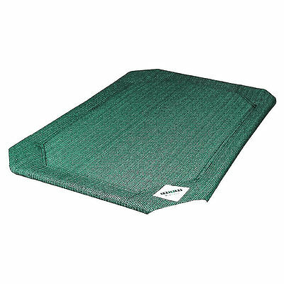 Raised Dog Pet Bed Replacement Cover by Coolaroo, GREEN Small, Medium, Large, XL