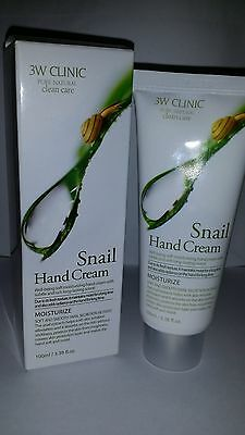 3W Clinic Pure Natural Snail Hand Cream-Made In KOREA-FREE SHIPPING-US SELLER