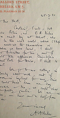 Autograph letter signed by A.A. MILNE author of the Winnie the Pooh books