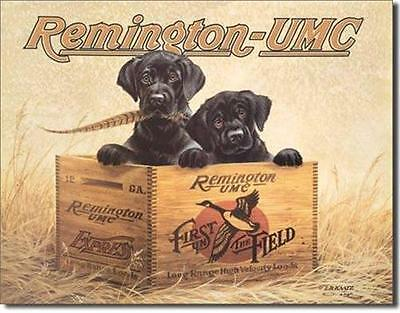 Remington Guns UMC Hunting Dogs Tin Gun Sign Retro Hunters Wall Decor USA 16""