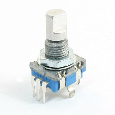 5Pin D Shaft 20 Detents Points 360 Degree Rotary Encoder w Push Button