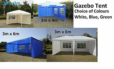 NEW PARTY TENT GAZEBO OUTDOOR MARQUEE WATERPROOF CANOPY 3m x 3m - 3m x 6m