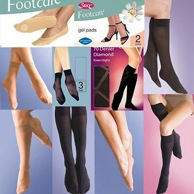 Knee Highs Footsies Flight Socks Gel Pads Trouser Socks Opaque Pop Socks New