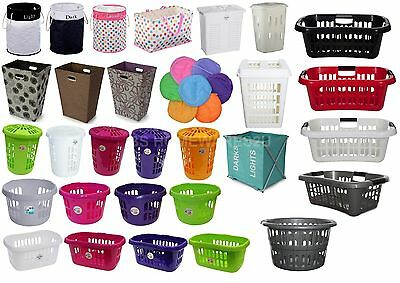 Laundry Bag,Basket,Hamper,Bin Linen Plastic Laundry Supplies Home Office New