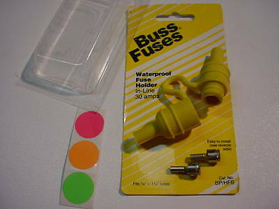 1 NEW BUSSMAN Inline Fuse Holder Water Resistant Waterproof 30A BP/HFB HAVE QTY.