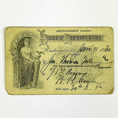 1930 Member's Pass - US House of Representatives - Rep. William R. Coyle (R-PA)