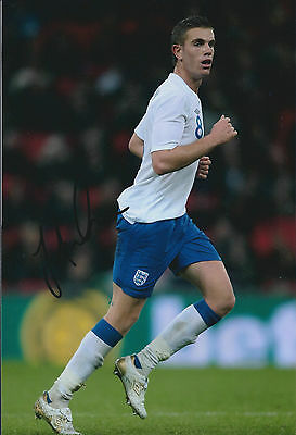 Jordan HENDERSON Signed Autograph 12x8 Photo AFTAL COA England 2014 World Cup