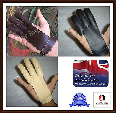 Archers Leather Shooting 3 Fingers Glove/
