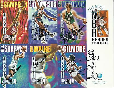 NBA Heroes of the Hardcourt signed Promotional Sharman, Gilmore...