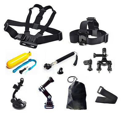 24 in1 Monopod Pole Floating Head Chest Mount Accessories For GoPro 2 3 4 Camera