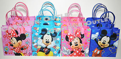 12 X Disney Mickey And Minnie Mouse Candy Bags Party Favors Gift Loot Goody