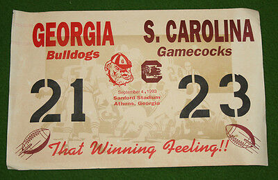 Vintage USC Gamecocks Football VICTORY PLACARD LOT #1  Collectors MUST L@@K