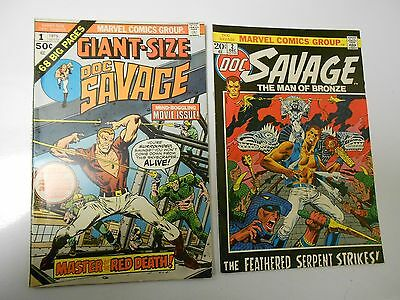1972 DOC SAVAGE #2 FVF 3 FN+ VG GIANT SIZE #1 VF- LOT of 4